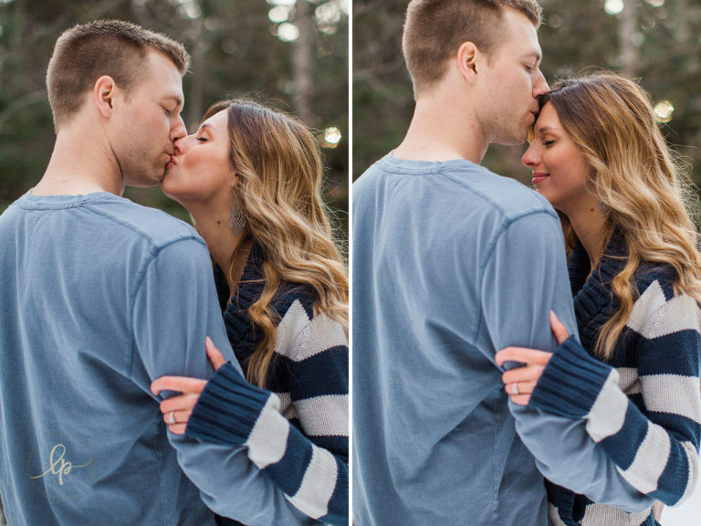 Intimate Red Deer Engagement Photography