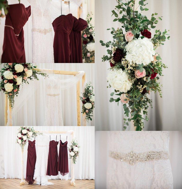 harmon valley wedding, arch florals, alfred angelo bridesmaid, sophia toll, wedding dress
